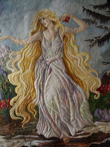 Persephone quilt by Marilyn Belford